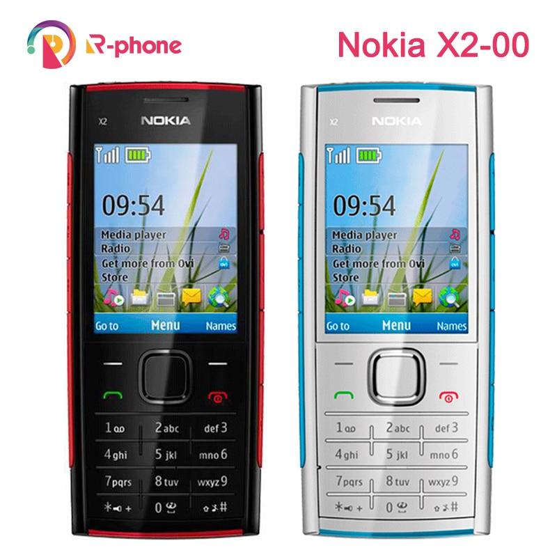 Remodelado x2 original nokia X2 00 bluetooth 5mp desbloqueado  telefone móvel venda quente frete grátismobile phoneunlocked mobile  phonephone free shipping