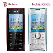 تجديد X2 الأصلي نوكيا X2 00 بلوتوث 5MP مقفلة الهاتف المحمول رائجة البيع شحن مجاني