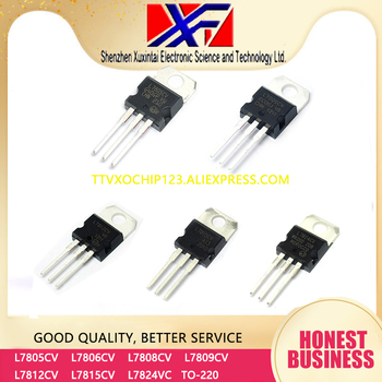 50Pcs/Lot L7805CV L7806CV L7808CV L7809CV Reguladores de tensión lineal 5.0V 1.0A Positive TO-220 image