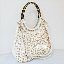 Women's Handbags Rhinestone-Bag Crossbody-Shoulder-Bag Luxury Designer Diamond Large-Capacity