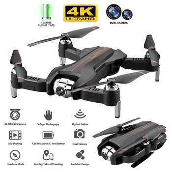 S5 S17 Foldable Drone with 4K HD Dual Camera WiFi FPV Adjustable Wide-Angle RC Helicopter Quadrocopter Kids Toy VS SG106 SG901