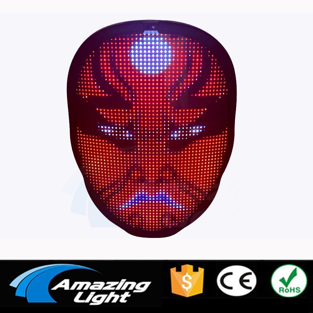 Costume Props Neon Led Luminous Joker Mask Carnival Festival Light Up Changing Mask Fox Mask Halloween Christmas Decor