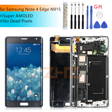 סופר AMOLED לסמסונג גלקסי 4 קצה lcd N915 N915FD N915F LCD מסך מגע Digitizer עצרת עם מסגרת תיקון חלקי