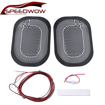 SPEEDWOW Universal DC 12V Car Rearview Mirror Heating Pad Side Mirror Glass Heater Defogger Pad Heating Mirror hot 2pcs universal new quick warm 12v car side mirror glass heat heated heater defogger pad mat for vehicles cars accessories