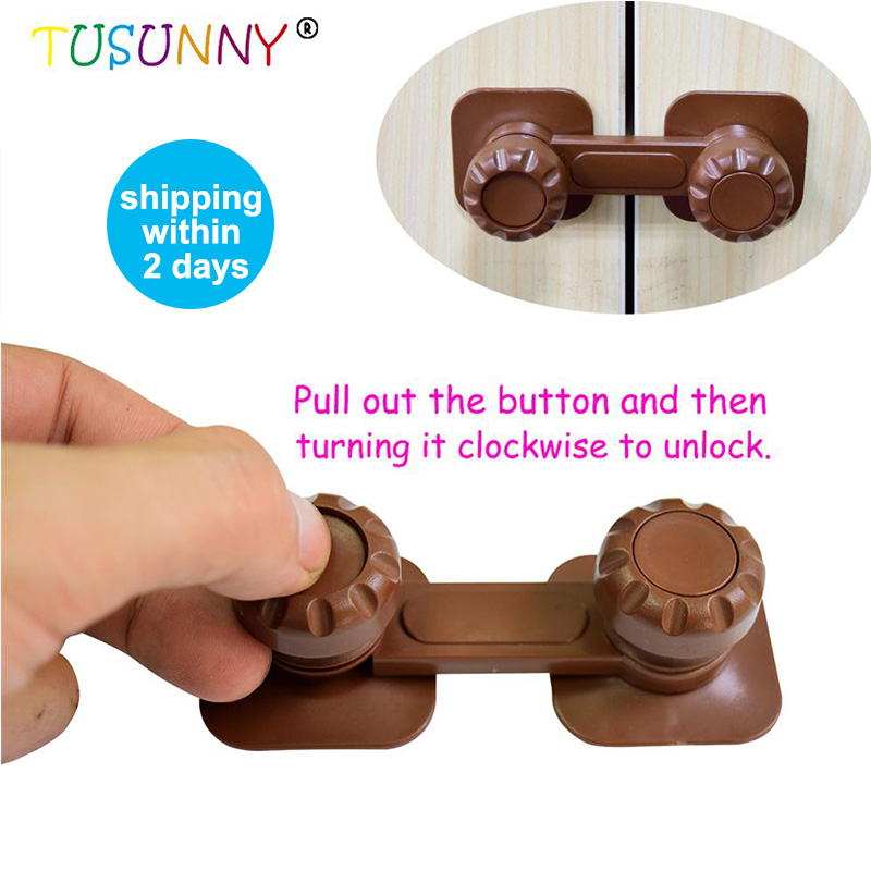 TUSUNNY 3PCS  Child Lock Latch Baby Safety Goods For Children For Newborn Cupboard Cabinet Door Drawers Child Safety Locks