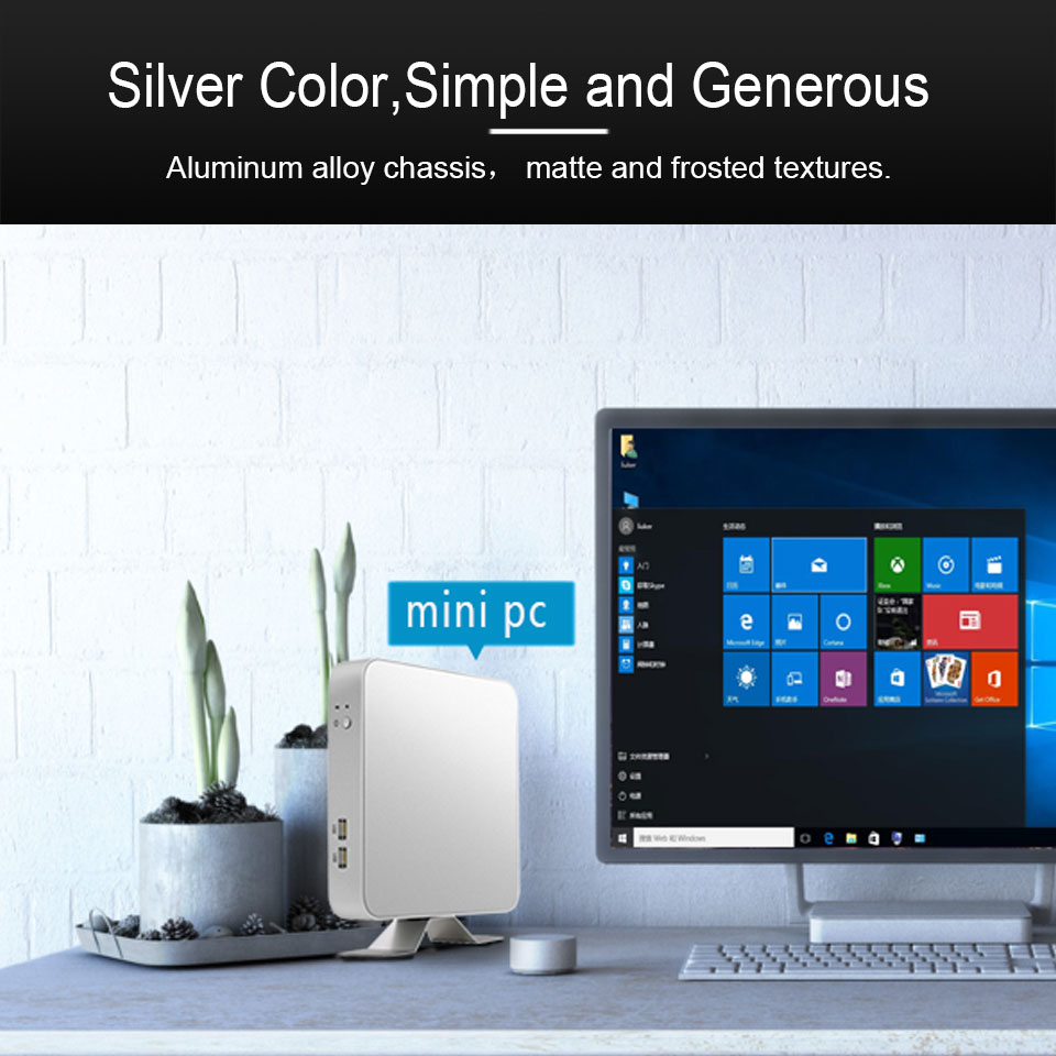 Mini PC HTPC Intel Core i7 6500U i5 4200U 3317U Windows 10 Pro USB Mini Computer Cooler Office Desktop minipc WIFI HD Graphics