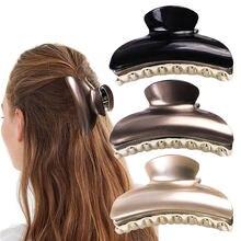 Grande griffe de cheveux brillant acrylique griffes de cheveux pince à cheveux brillant crabe épingle à cheveux pour femmes filles cheveux accessoires pinces à cheveux pour les femmes