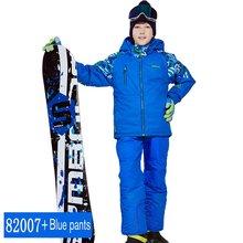 Phibee/лыжный костюм для мальчиков и девочек комплект из водонепроницаемых штанов и куртки, зимняя спортивная утепленная одежда Детские лыжные костюмы новое поступление