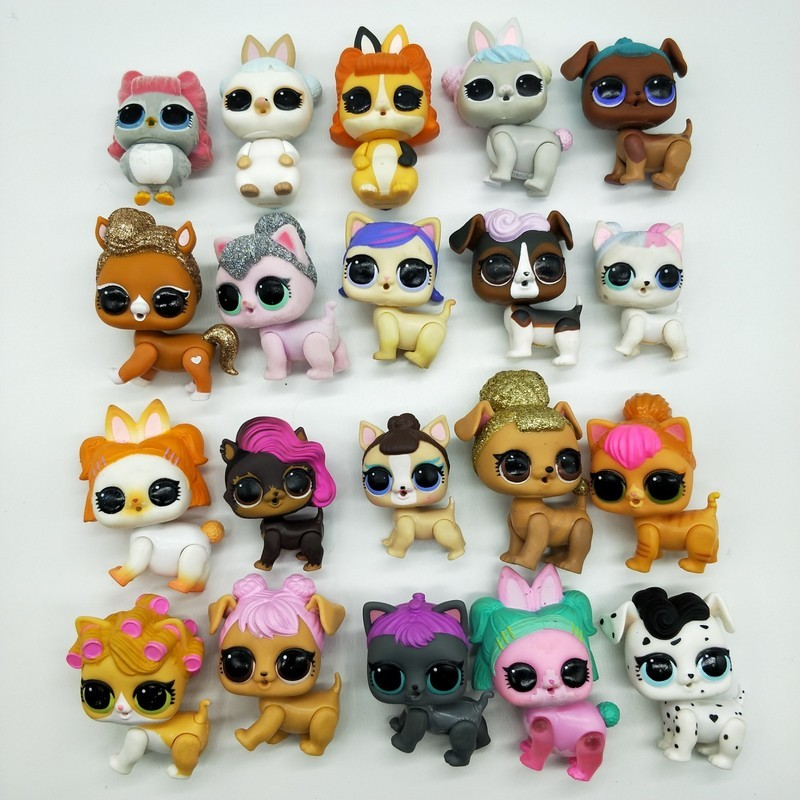 Random 1PCS LOL Surprise Dolls Original Pets Puppy Animal Naked Dolls Anime Figures Action DIY Toys Girl Birthday Chrismas Gifts