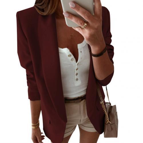 Ladies Blazer Long Sleeve Blazer Women Suit Jacket Feminine Blazer Navy Blue White Blazer Autumn
