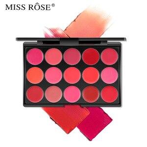 Miss rosa make-up matte veludo névoa rosto 15 cores hidratante lábio bálsamo à prova dwaterproof água bordo placa vermelha