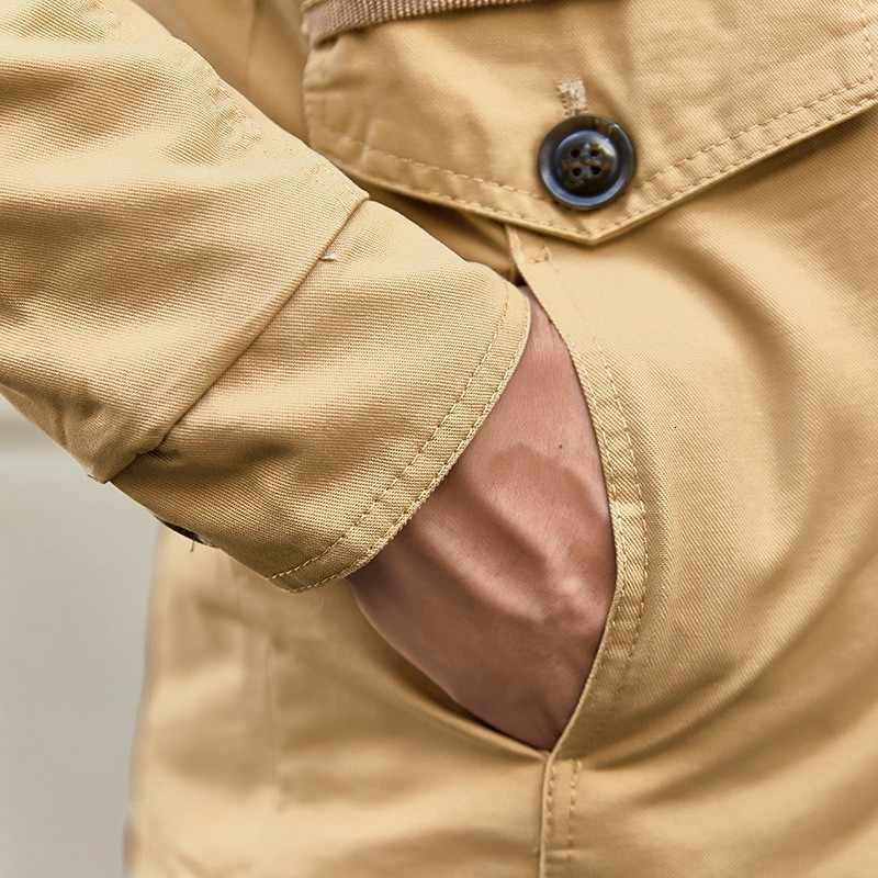 秋冬メンズウォームジャケットコートトレンチ 2020 新ファッションスリムフィットコットンフード付きオーバーコート 5 色大サイズ M-6XL