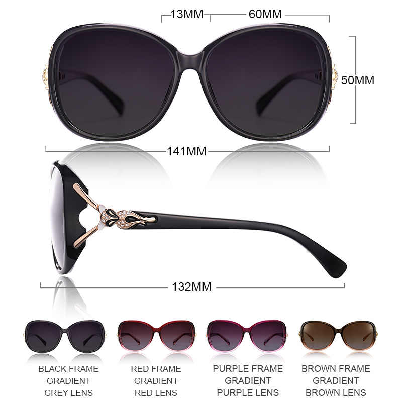 VEGOOS Роскошные негабаритные солнцезащитные очки для женщин поляризационные UV400 защита маленькое лицо Ретро Дизайнер Дамы Оттенки # 9131A