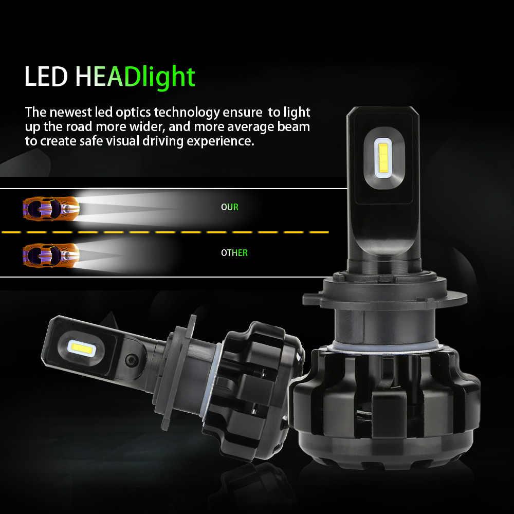 Zdatt H7 LED H1 Led lampadas H4 Led Auto Fari Lampade per Auto di Ghiaccio H11 6000K Canbus 100W 12000LM Automobili 12V Fendinebbia