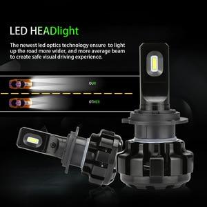 Image 5 - Zdatt h7 led canbus lampadas h1 h4 h8 h9 h11 lâmpadas de farol do carro lâmpadas gelo 6000k 100w 12000lm 12v automóveis foglights