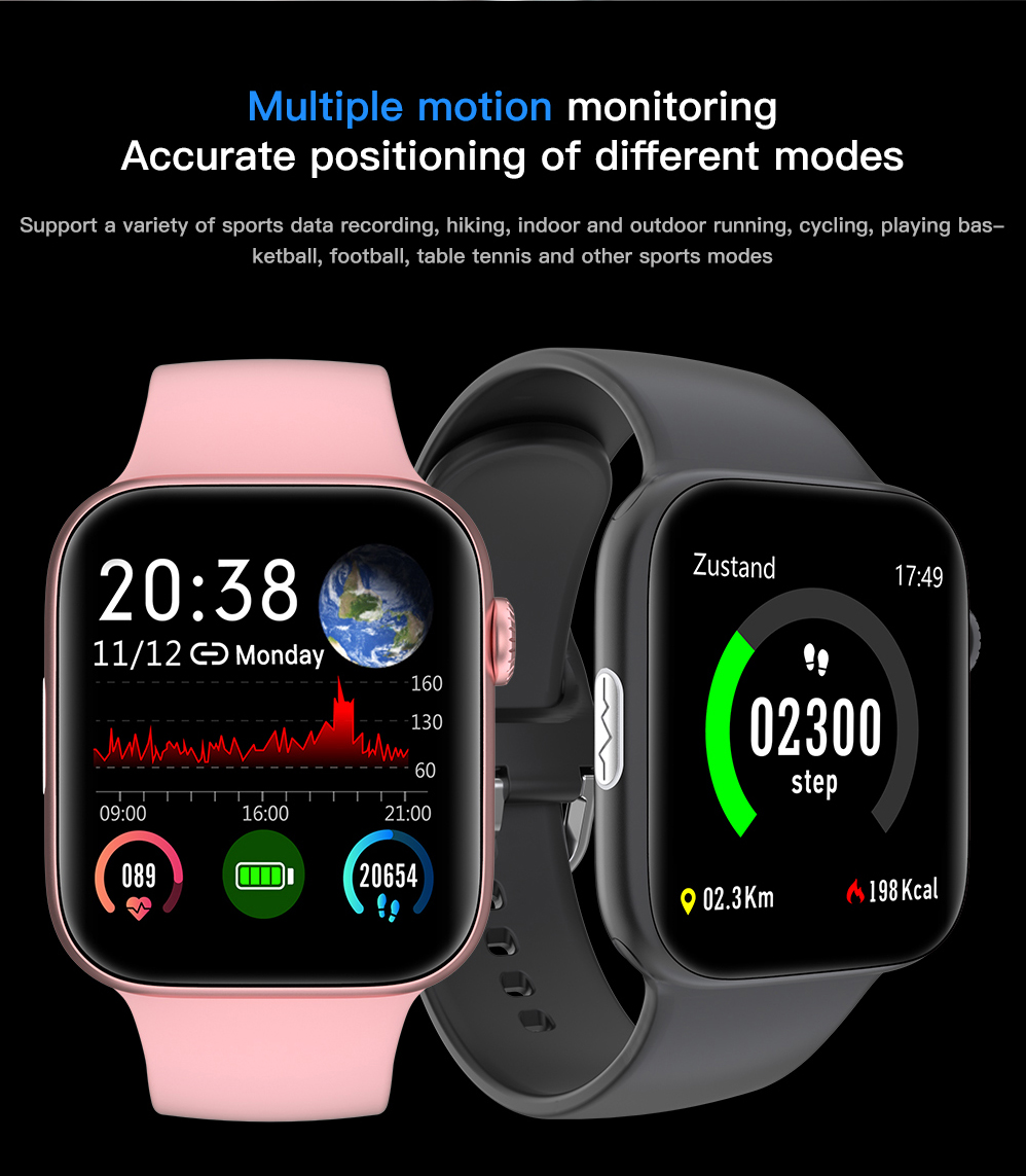 H3378ee5a356a46b19c856c33deef69d6A ECG Heart Rate Monitor Smart Watch 2020 Full Touch Screen SE03