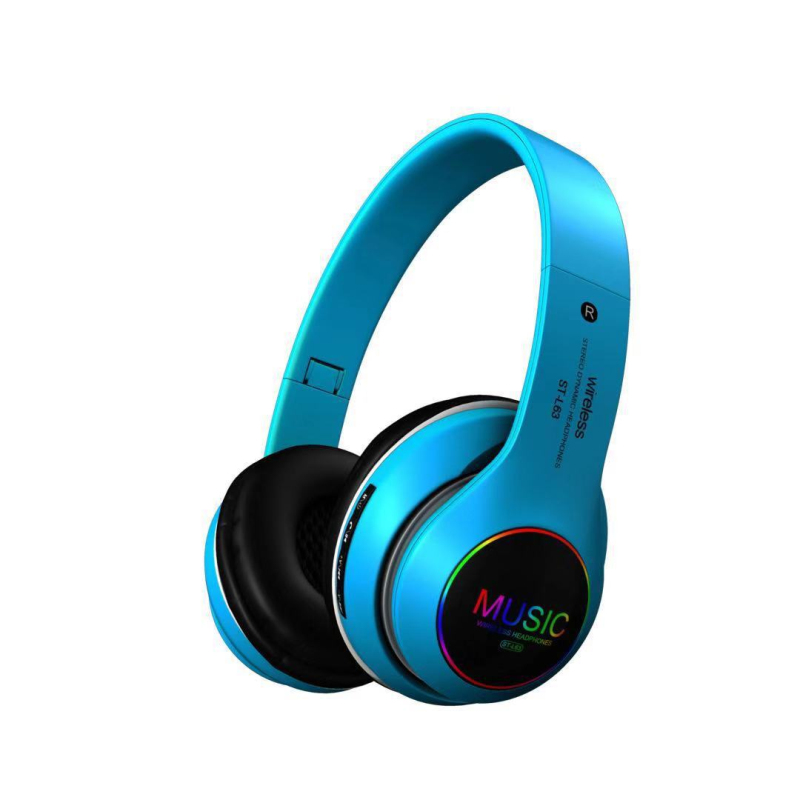 Glowing Wireless Bluetooth Headset With Microphone Foldable Bass Stereo Music Headphones Headsets Noise Reduction Headphones
