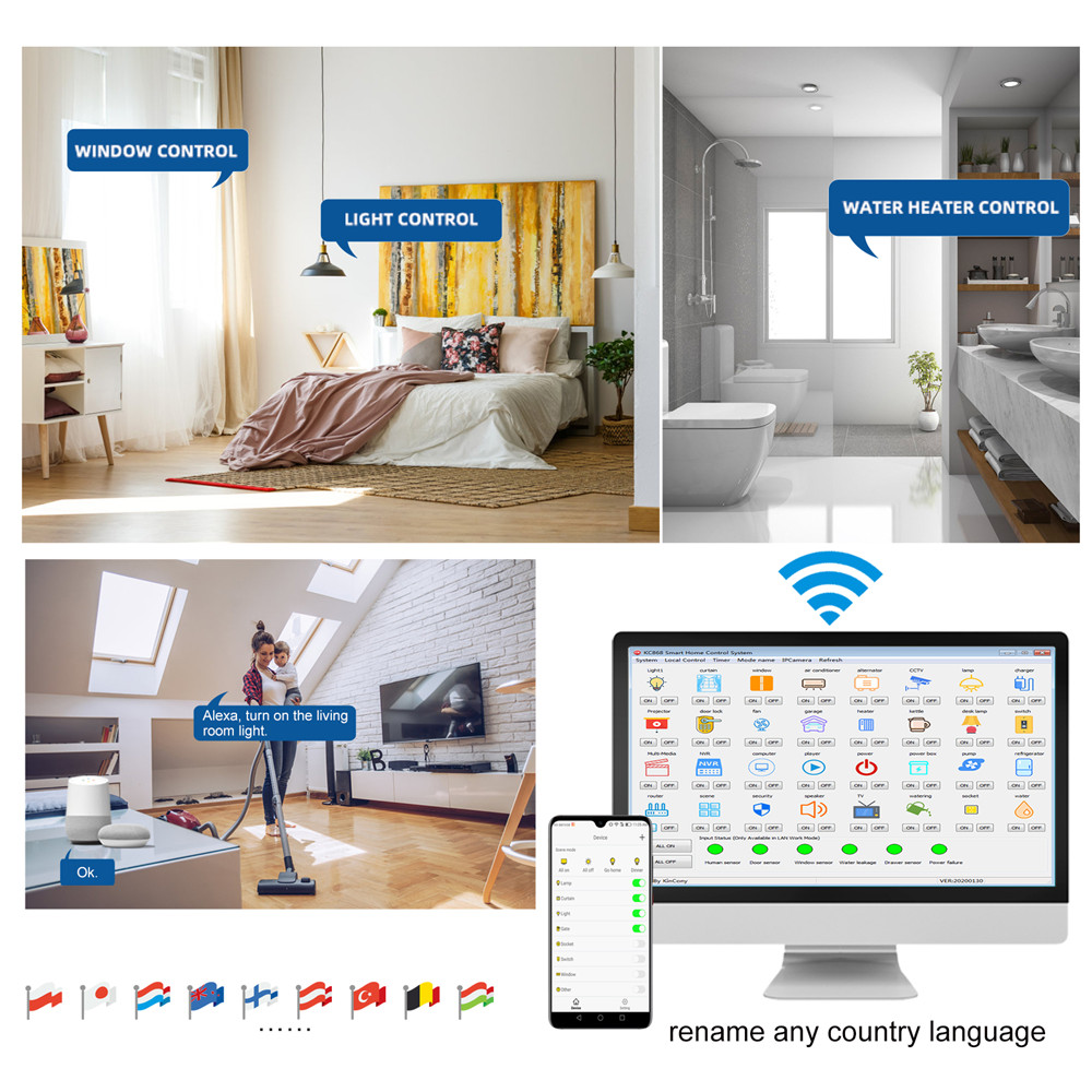 Image 5 - wifi ethernet relay board switch web server controller smart home automation work in LAN WAN PC phone APPHome Automation Modules   -