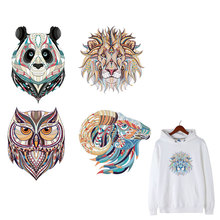 Animal Patches Set Iron on Clothes Patches Heat Transfer Stickers Washable Badges stripes heat transfer DIYT-shirt jeans print E polo diyt page 7