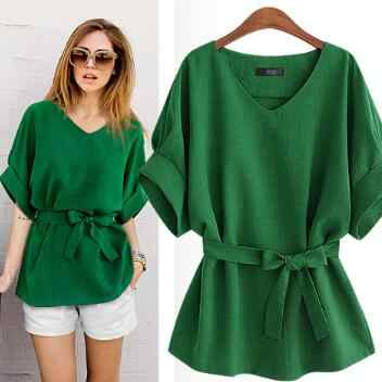 Ethnic 2020 Summer Vintage Batwing Sleeve Blouses Cotton And Linen Women Pure Color Shirts Pullover Ladies Elegant Tops A104