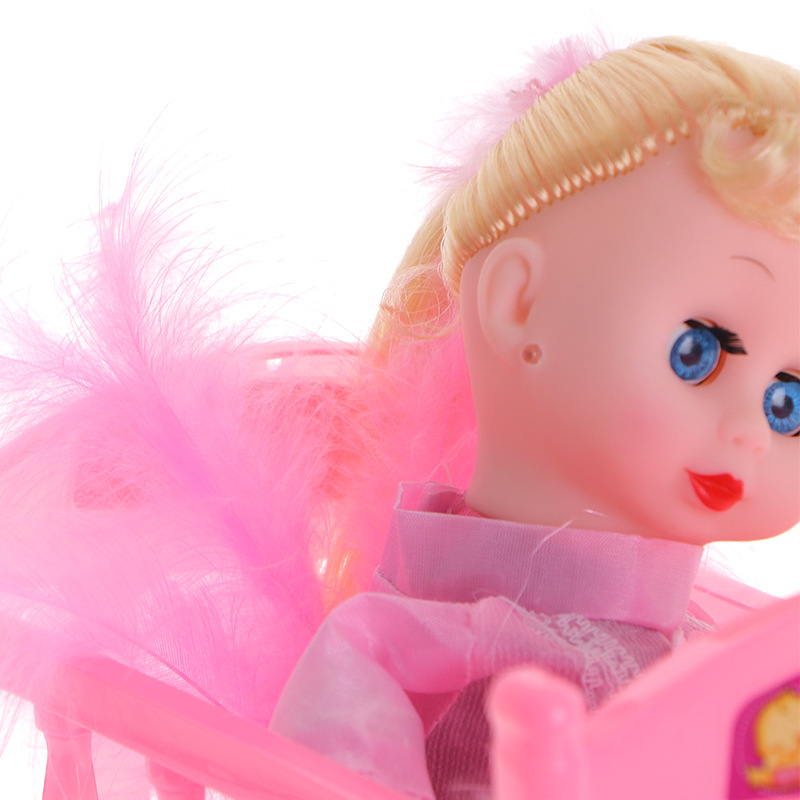 Cradle Doll Cradle Electric Doll Children Plush Creative PVC Doll Toy