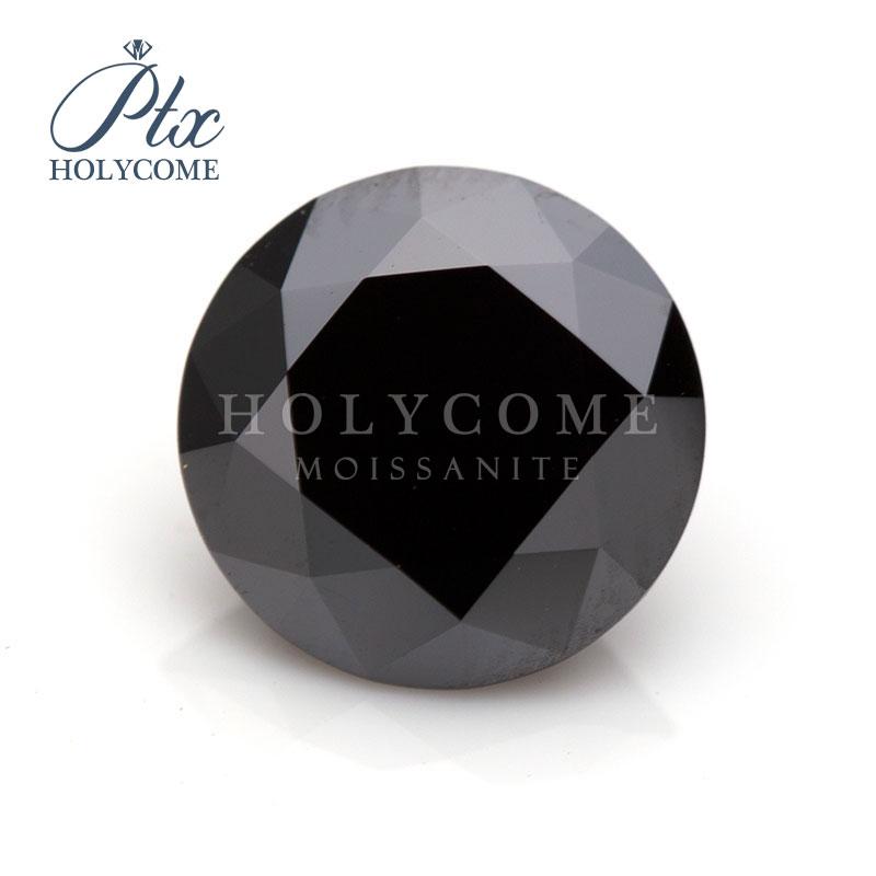 Hot sale Round Black Moissanite Diamond cut 4mm Lab Created Gemstone for jewelry earrings necklace kolczyki bracelet piercing