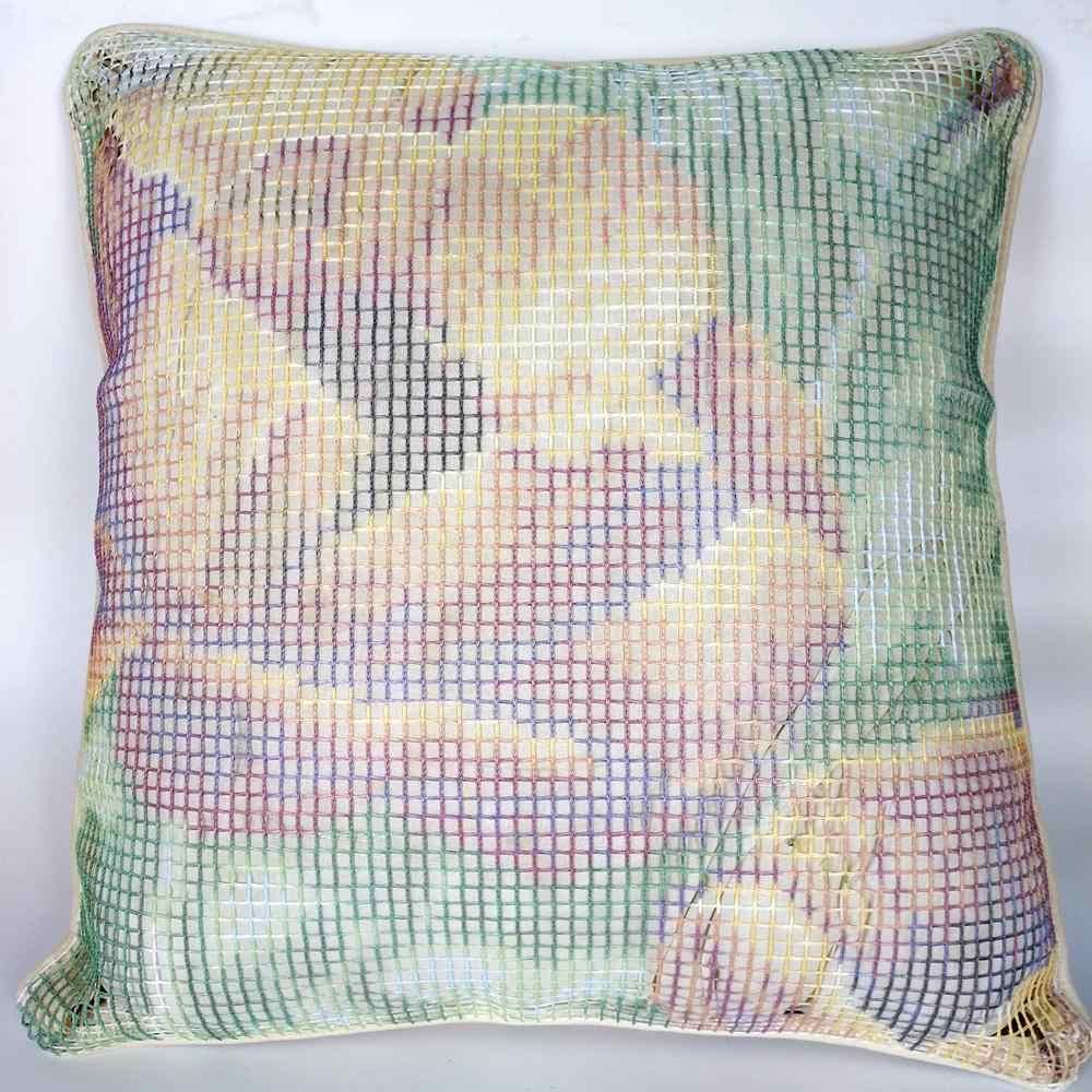 Zatrzaskowe zestawy hakowe stwórz własną poduszkę dwie papugi płótno z nadrukiem szydełka poszewka na poduszkę zatrzask haczyk obicia na poduszki sztuka i rzemiosło