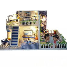 DIY Cottage Santorini Creative Gifts Birthday Gifts Educational Toys Christmas Toys Children's Best Gifts