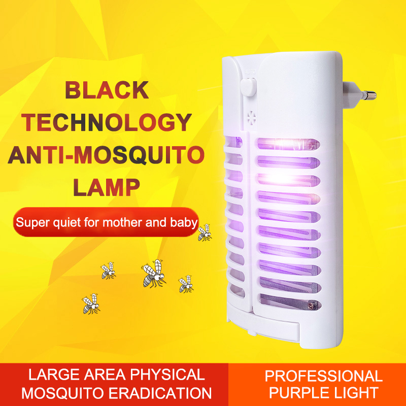 Tofok Photocatalyst LED Electric Shock Mosquito Killer Night Lamp Insect Killer Trap Home Pest Control Repellent High Quality