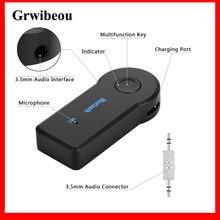GRWIBEOU-adaptador inalámbrico Bluetooth 3,5mm, adaptador AUX de Audio, receptor de Audio para música, hogar y coche