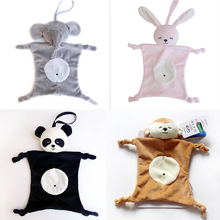 цена на Plush Toy Baby Soothing Comfort Towel Panda Rabbit Safety Blanket Baby Toy Soothing Towel WJ249
