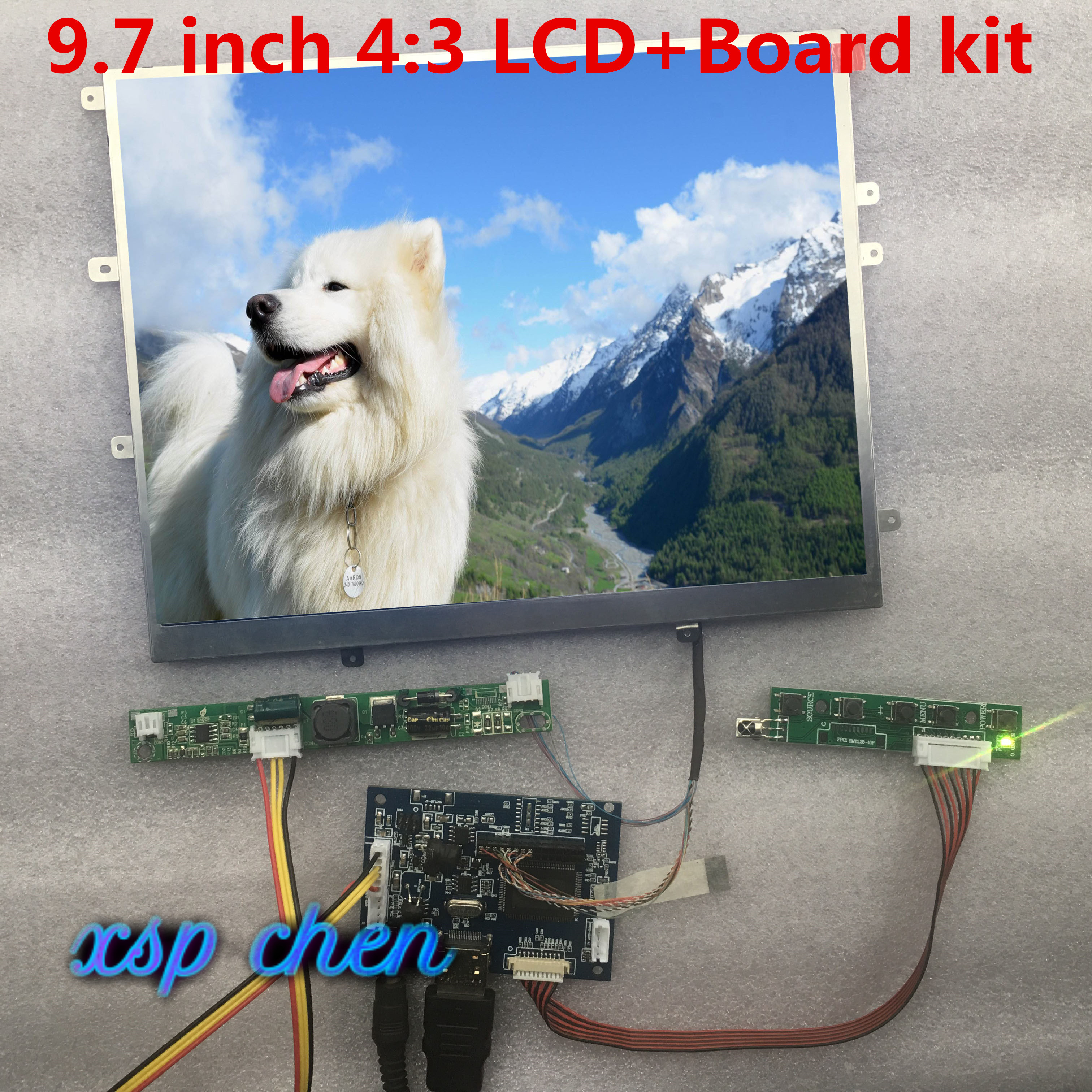 "9.7 ""inch 1024*768 HD Scherm 4:3 LCD Controller LP097X02 LTN097XL01 Monitor Driver Board HDMI VGA 2AV Voor Raspberry Pi"