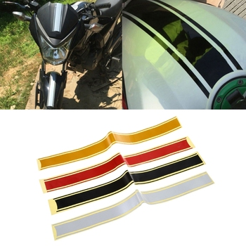 Motorcycle DIY Tank Fairing Cowl Vinyl Stripe Pinstripe Decal Sticker For Cafe Racer 50 x 4.5 cm U90C image