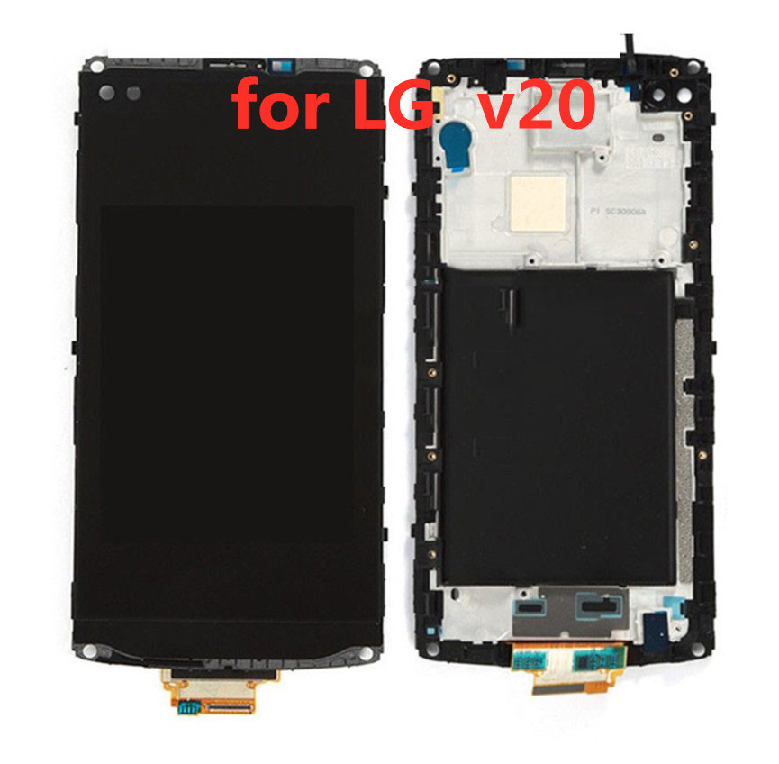 for <font><b>LG</b></font> <font><b>V10</b></font> H960 H968 H900 VS990 LCD <font><b>Display</b></font> Touch Screen Digitizer Glass Assembly with Frame Pre-Installed Replacement Repair image