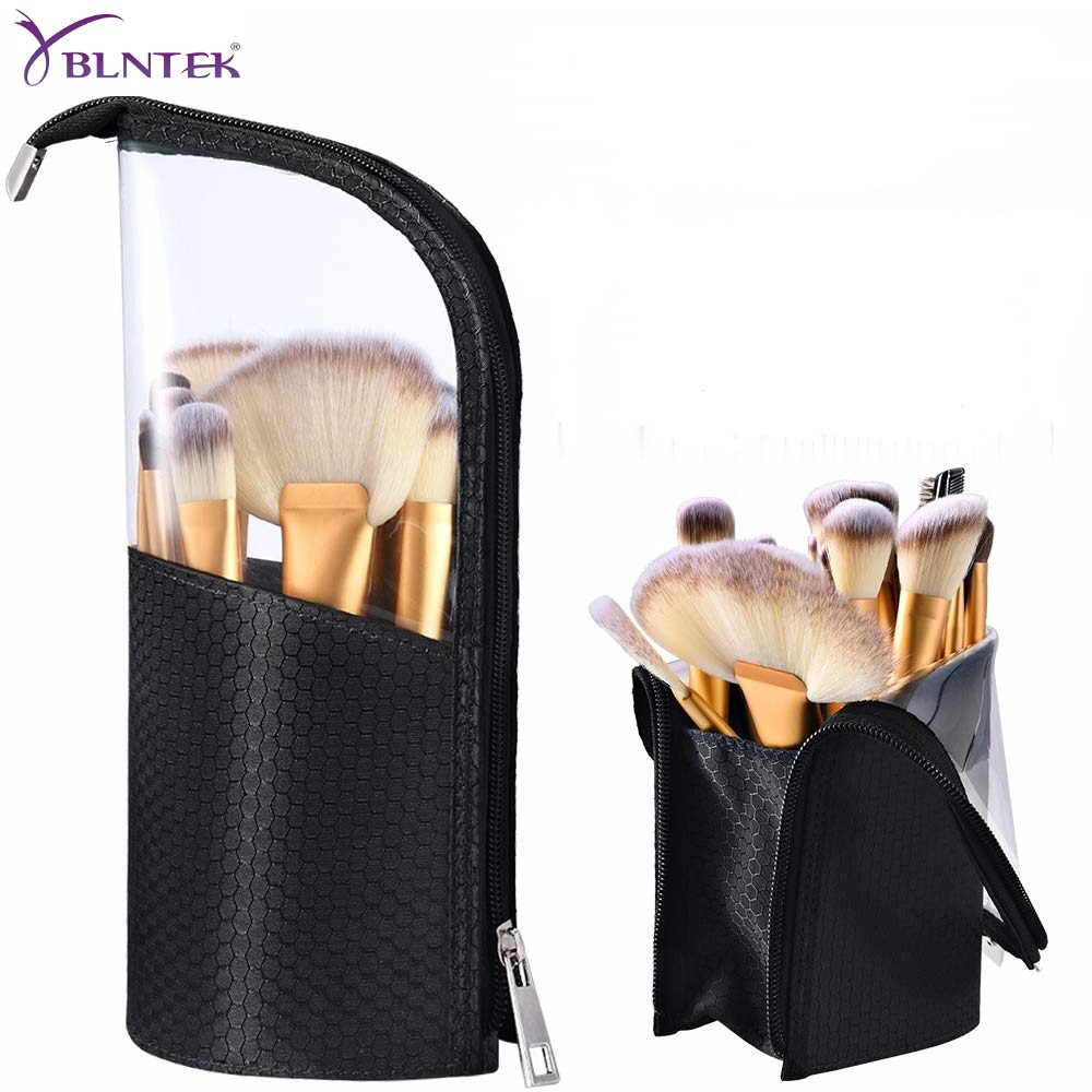 YBLNTEK Makeup Brush Holder Dust-proof Brush Makeup Holder Waterproof Travel Case For Brush Women Brush Organizer Makeup Tools