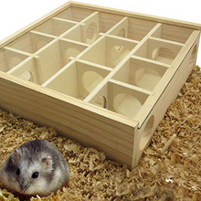Pet Hamster Wooden Mazes Tunnel Gerbil Rat Mouse Mice Small Animal Play Toys JA55