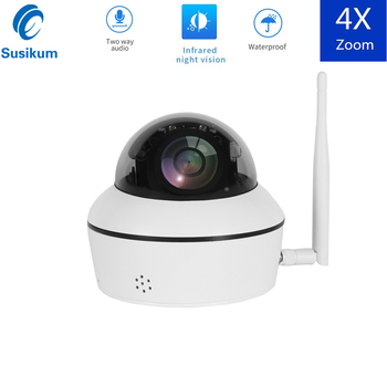 PTZ Mini Wifi Wireless IP Dome Camera Outdoor H.265 2MP 5MP PTZ 4X Optical Zoom Wifi Outdoor Security Camera Night Vision цена 2017