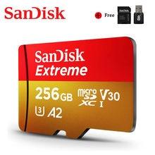 Cartão instantâneo extremo do micro microsd do cartão 4k v30 tf do cartão 4k 400gb 64gb 32gb menory original do cartão a2 256gb 128gb do sd
