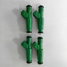 4 قطعة اختبار الفيديو المغلقة العالمي أعلى تغذية أداء 440cc حاقن الوقود الأخضر العملاق 0280155968 ل vw لأودي A4 TT