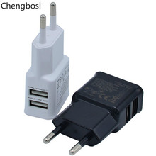 5V 2A 1A Mobile Phone Charger Dual USB Head for US EU Travel Smartphone Universal Cell Chargers IPhone