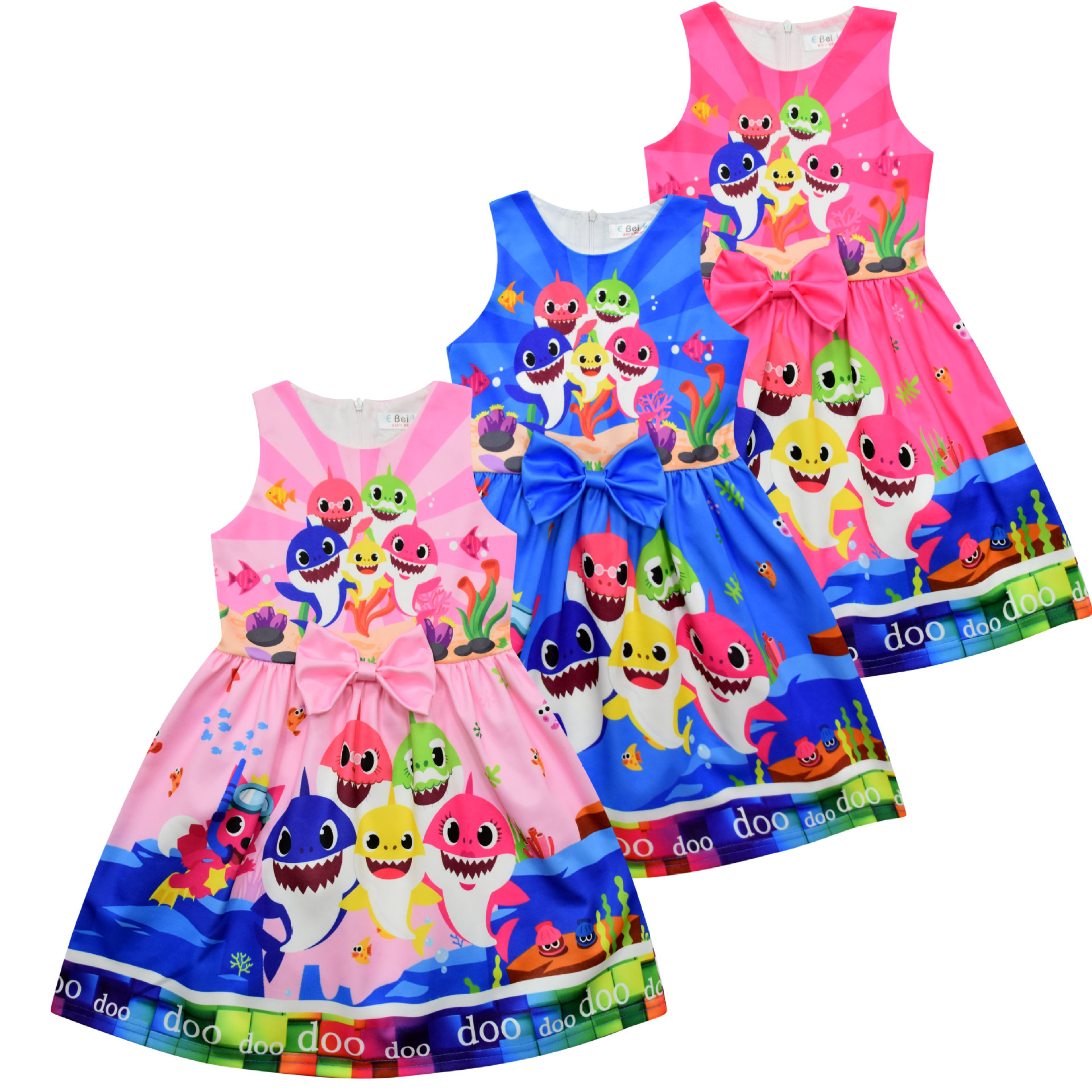 New Summer Surprise Girl Princess Dress Cute Cartoon Unicorn Party Dress Children Clothing 5