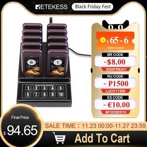 Image 1 - Retekess SU 68G Restaurant Pager Mit 10 Pager Empfänger Für Restaurant Kirche Klinik Kellner Pager Wireless Aufruf System