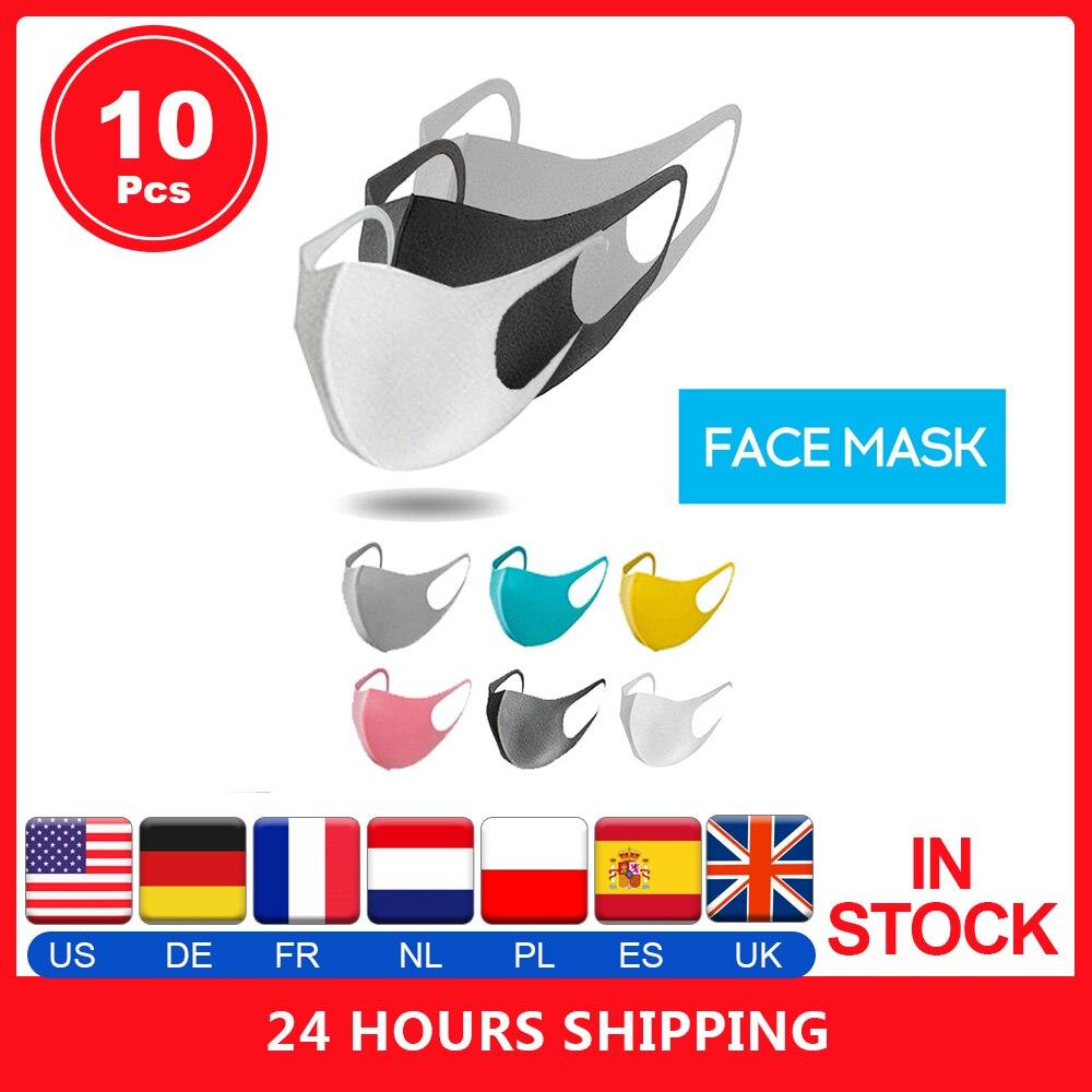 1/3/5/10 Pcs Unisex Anti Dust Breathing Mouth Mask Anti-fog PM2.5 Sponge Face Cover Outdoor Protection Washable Reusable Masks