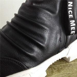 Image 5 - Yumuşak deri çizmeler erkek Trend 2020 kış sıcak kar botları su geçirmez erkek ayakkabısı X #15/10D50
