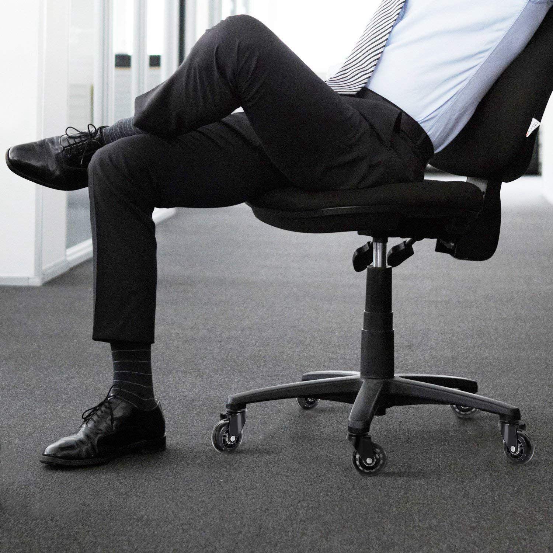Rodas de cadeira de escritório, 5 unidades, estilo castor, lâmina de rollerblade, substituição da roda (2.5/3 polegadas)-4