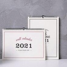 Calendario de pared sencillo planificador semanal mensual, organizador de Agenda para el hogar y la Oficina, calendario colgante
