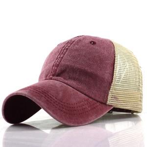Image 1 - Lato Mesh czapka z daszkiem mężczyzna kobiet Snapback czapki Hip Hop stałe dorywczo czapki kości tata kapelusz Casquette regulowane gorras hombre