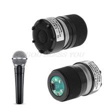 Cápsula microfone núcleo profissional se encaixa para shure sm58 tipo mic substituir o transporte da gota