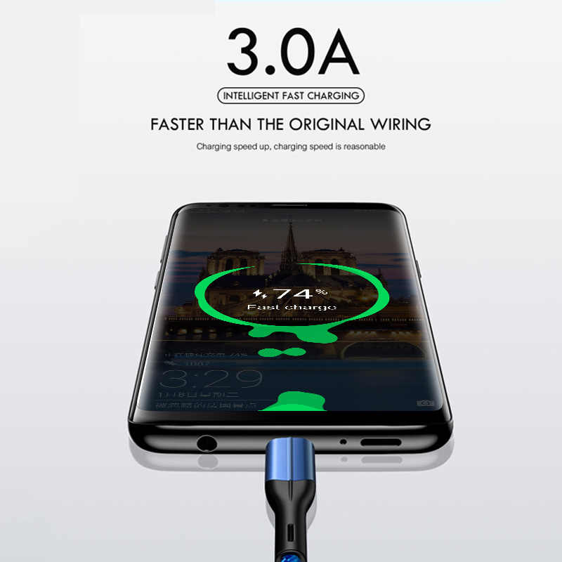 ZNP usb type C кабель для huawei P30 P20 Honor 20 10 3A Быстрая зарядка мобильного телефона USB C кабель для samsung S10 S9 S8 type-C кабель