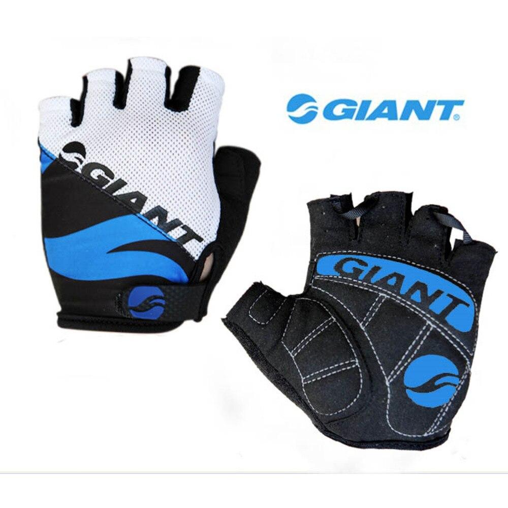 Гигантские велосипедные перчатки с пальцами, Нескользящие дышащие противоударные спортивные перчатки с защитой от пота для мужчин и женщи...